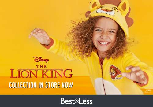 Grab the great new Lion King range at Best&Less